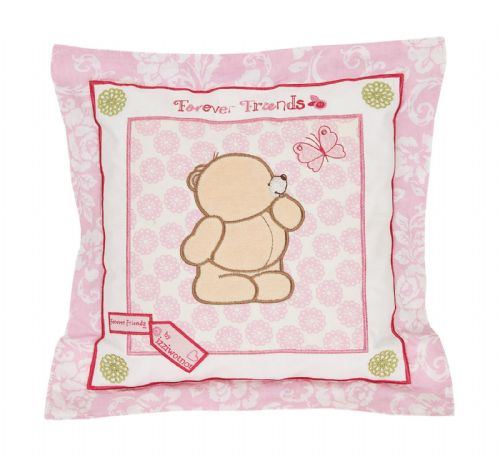 'IZZIWOTNOT' FOREVER FRIENDS PINK COLOUR FILLED SQUARE CUSHION